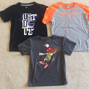 Lot 3 boys NIKE & Under Armour shirts